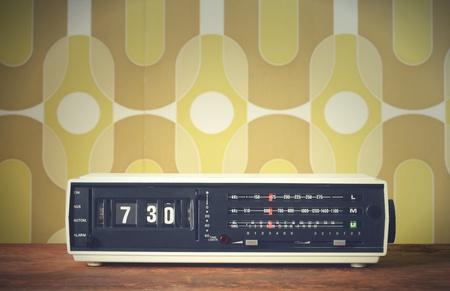 Wake up! vintage alarm clock radio  photo