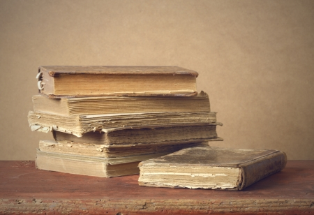 a stack of old books Stock Photo - 13634242