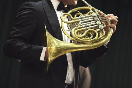 Classical concert music: french horn photo