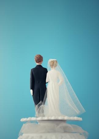 wedding cake: Vintage Wedding Cake Dolls