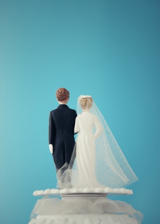 Vintage Wedding Cake Dolls photo