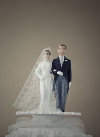 Vintage Wedding Cake Dolls Stock Photo - 13704388
