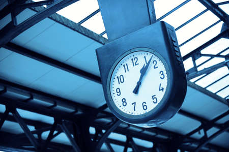 City Clock in train station Stock Photo - 13846428