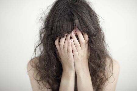 A young woman is sad, troubled, depressed Stock Photo - 13846391