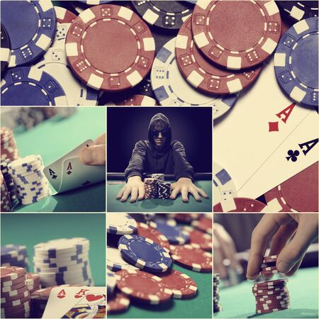 Texas holdem themed collage photo