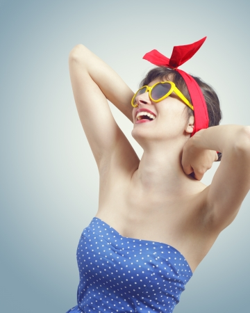 Smiling pin up girl Stock Photo - 14179668