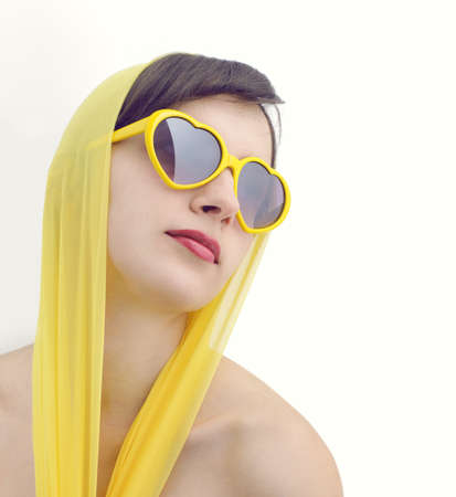 Young beautiful woman in sunglasses  photo