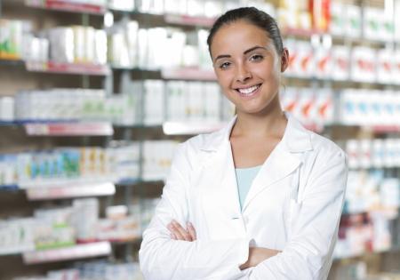 farmacia: Retrato ambiental de un personal m�dico o doctor en farmacia