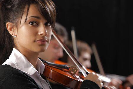 musica clasica: Concierto de m�sica cl�sica: Retrato de la mujer joven violinista