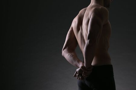 male bodybuilder model back portrait Stock Photo - 17799589