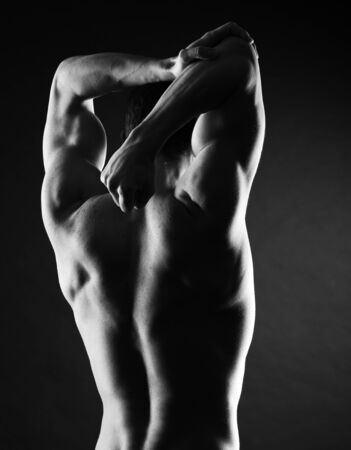 portrait of shirtless athlete with strong body Stock Photo - 17799588