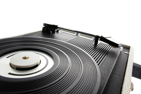 78 rpm: Old record player close up Stock Photo