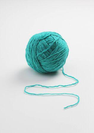 ball of wool:  BlueGreen Wool