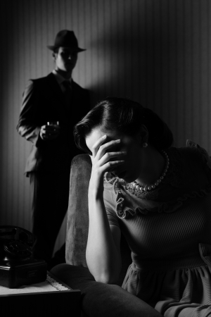 Conflict between the man and woman photo