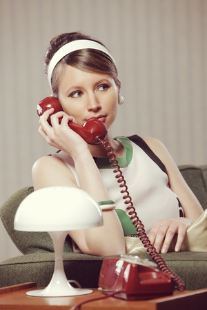 Portrait of young woman talking on the phone Stock Photo - 21510576