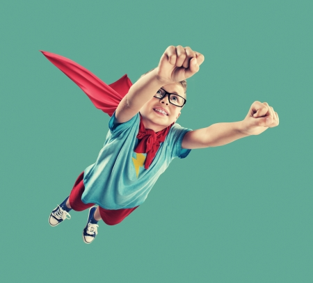 A little superhero ready to save the world Stock Photo
