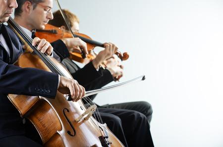 Violoncelliste et violoniste jouant au concert Banque d'images - 22880131