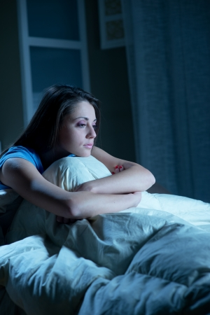Portrait of a young woman suffering from insomnia Stock Photo - 23830548