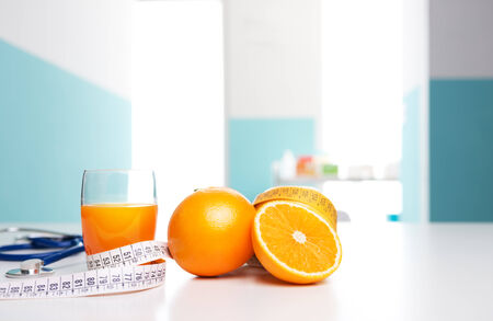 nutritionist: Healthy Lifestyle. Orange juice, healthy source of vitamins
