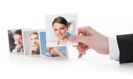 Human Resources concept. Portraits of a group of business people  photo