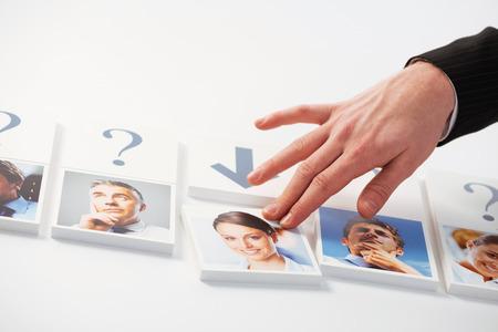 ressources humaines: Concept de ressources humaines. Portraits d'un groupe de gens d'affaires