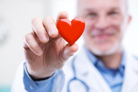 estetoscopio corazon: Doctor que sostiene un coraz�n, cardi�logo y enfermedades cardiovasculares concepto.