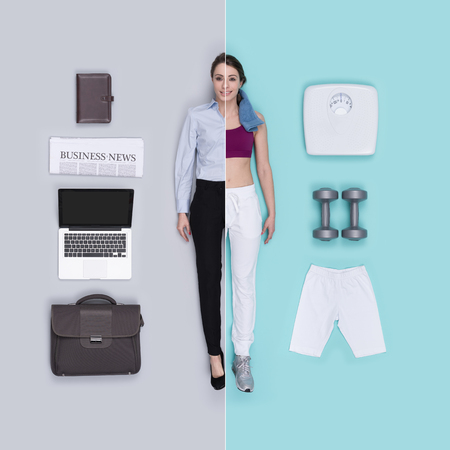 Lifelike female dolls comparison and accessories: business executive and fitness sportswoman