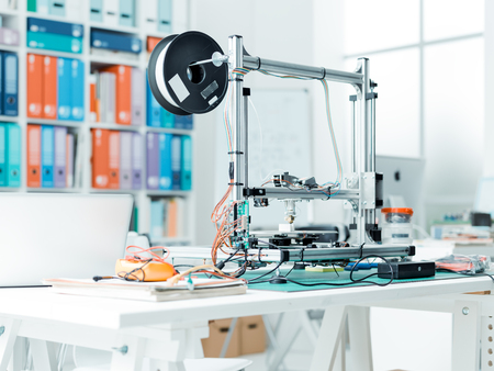 3D printer in the school laboratory, technology and engineering concept