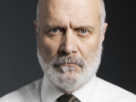 Black and white portrait of a confident mature man, close up Standard-Bild - 116681686