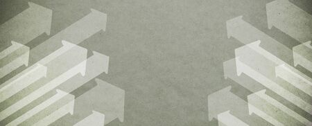 Arrows pointing up on recycled paper background, blank copy space