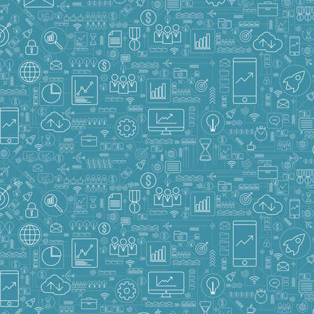 Abstract business and technology background with icons and financial concepts