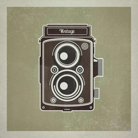 Vintage twin lens reflex camera, photography equipment