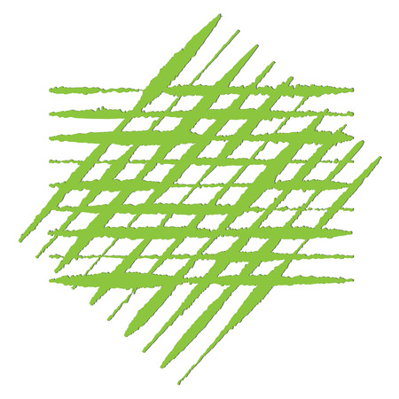 Ragged uneven lines in green Vector illustration.