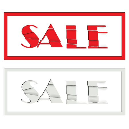 Banner for the store with text sale. Vector illustration. Illustration
