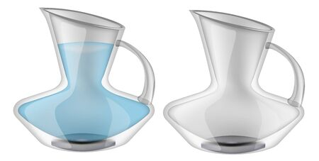 Glassware, jug. Decorative household items Vector illustration