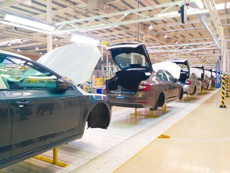 Solomonovo, Ukraine - January 15: Large-Scale Production of Skoda Cars