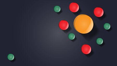 Abstract illustration. Banner with colorful circles. Multi-colored pills. Иллюстрация