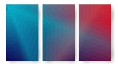 Set of backgrounds for the flyer. Gradient Background. Polygons and rhombuses