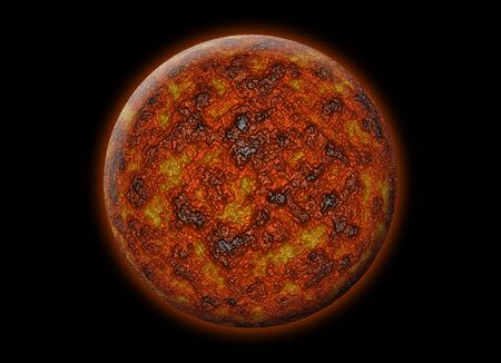 collapsed: Red alien planet
