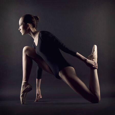 A portrait of young beautiful gymnast woman Stock Photo - 18136975