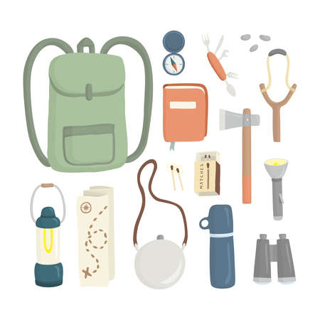 Various camping items Stock Vector - 12861112