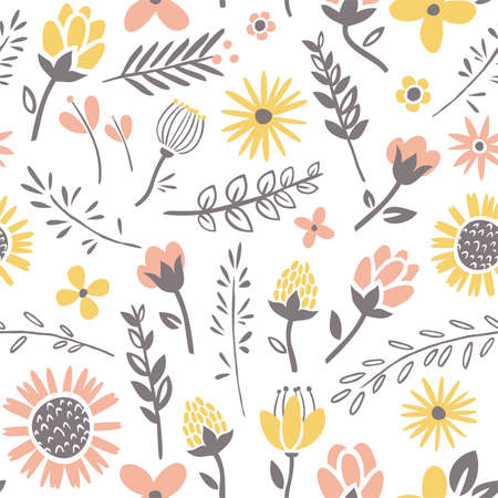 Field flowers pattern Illustration