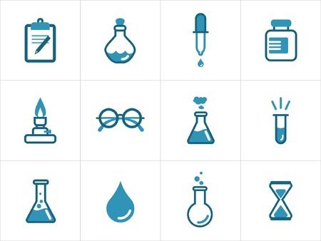 material de vidrio: Ciencias de iconos para sus productos y proyectos, fácil de editar, cambiar el tamaño y colorear.