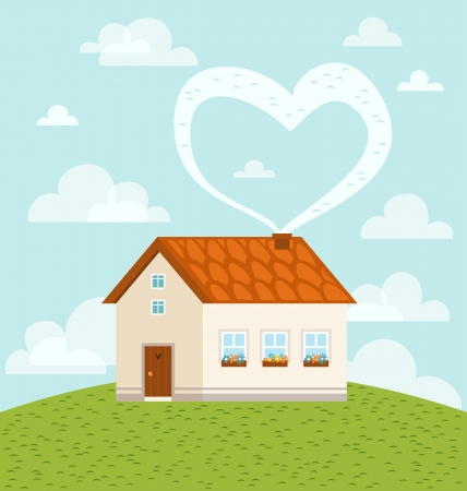 Home is where love is Stock Vector - 13553916