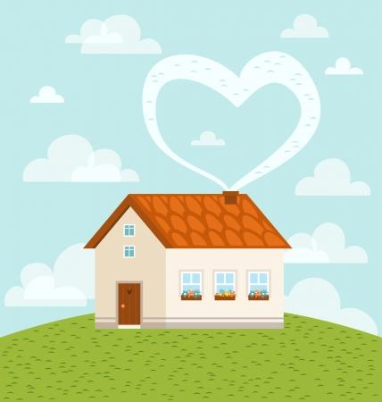 La maison est où l'amour est Vecteurs
