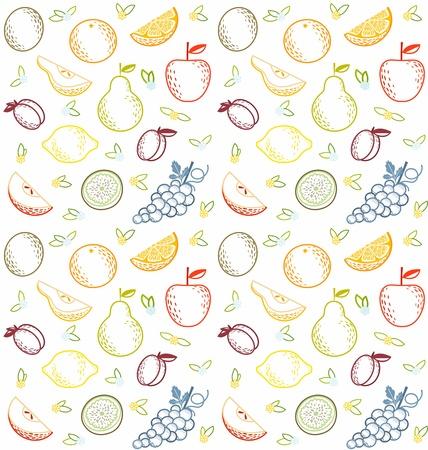Seamless summer fruit pattern Stock Vector - 13802413