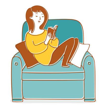 Leisure Reading Clip Art