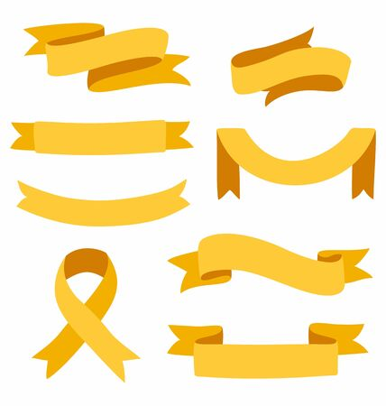 Set of vector ribbons isolated on white background 向量圖像