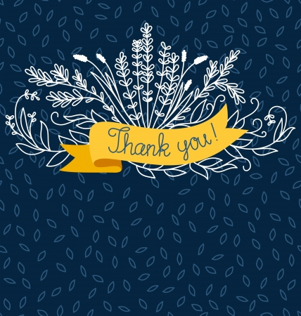 Thank you card template  イラスト・ベクター素材