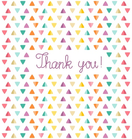 Thank you card template. Vector illustration Illustration